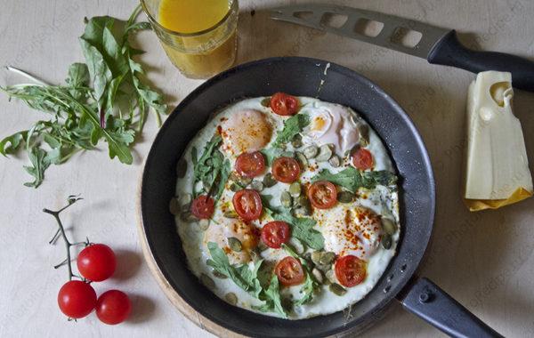Вкусная яичница на завтрак – рецепт приготовления