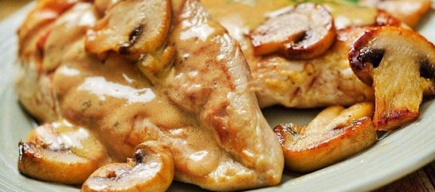 Курица с йогуртом и грибами рецепт приготовления