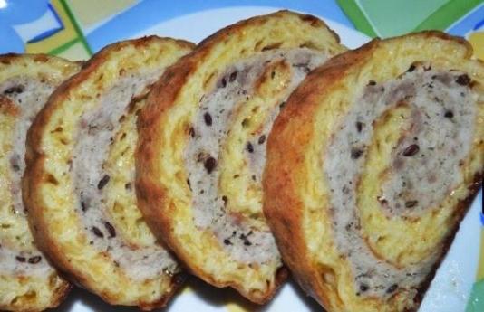 Мясной рулет в сырной корочке рецепт приготовления