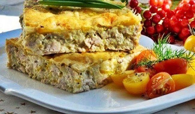 Легкий куриный пирог-запеканка рецепт