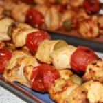 Шашлык из куриного филе с овощами рецепт