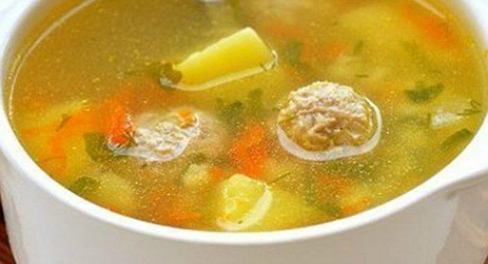 Легкий суп с фрикадельками рецепт приготовления