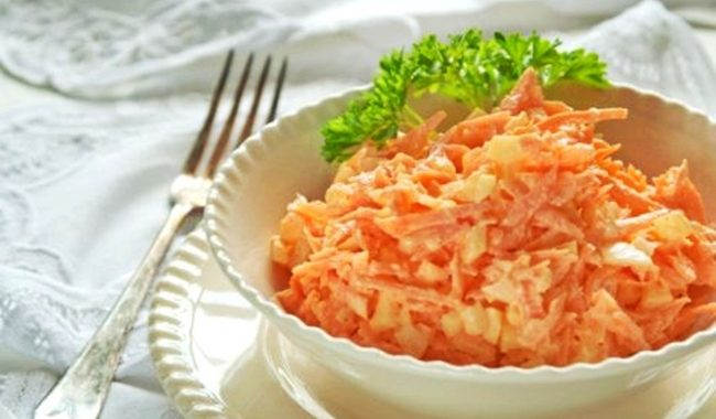 Морковный салат с майонезом рецепт приготовления