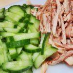 Салат-закуска из курицы со свежими огурцами рецепт приготовления