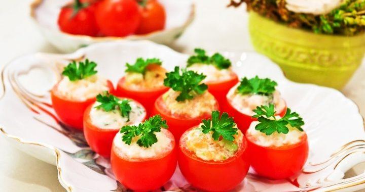 Фаршированные помидоры черри с сыром рецепт приготовления