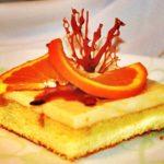 Бисквитное пирожное с апельсиновым суфле рецепт
