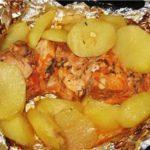 Филе рыбы в фольге с картофелем и грибами рецепт приготовления