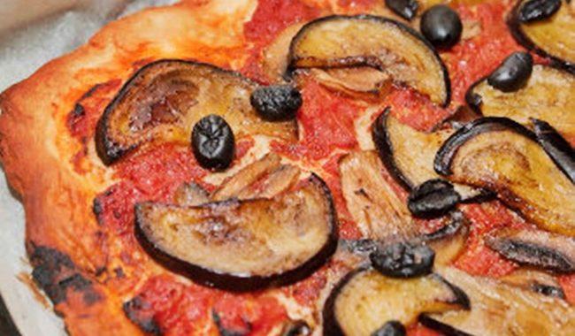 Грибная пицца с баклажанами и сыром рецепт приготовления