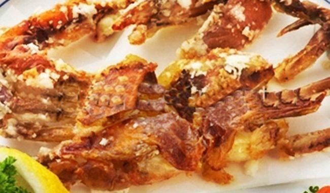 Мягкопанцирный краб, жаренный в крошках панко – рецепт приготовления