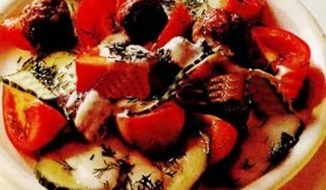 Овощной салат с тефтелями рецепт приготовления