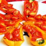 Перец с тунцом и помидорами запеченный в духовке рецепт