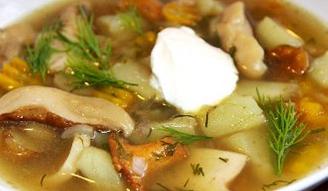 Классический грибной суп с картофелем рецепт приготовления
