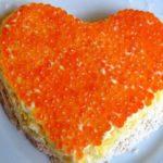 Салат Сердце с яйцом и огурцом рецепт приготовления