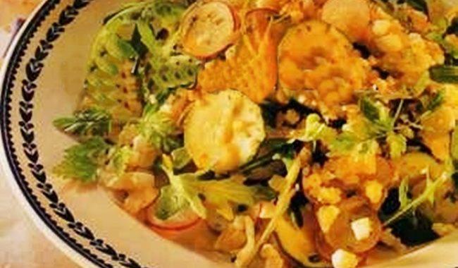Салат с яйцом, редисом и редькой рецепт приготовления