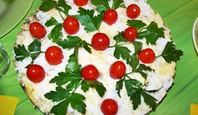 Салатный торт рецепт приготовления