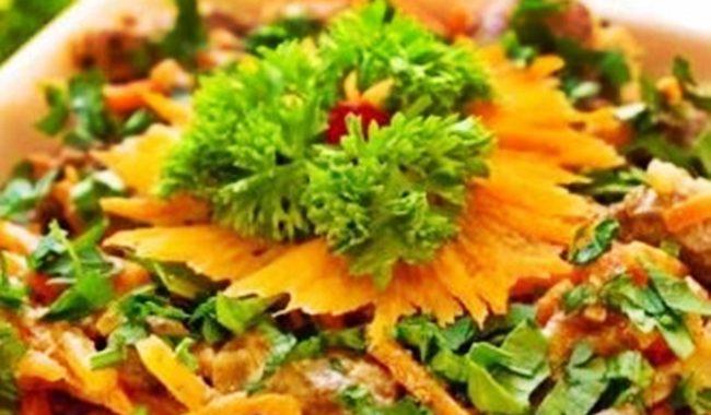 Салат из печени и корейской моркови рецепт приготовления