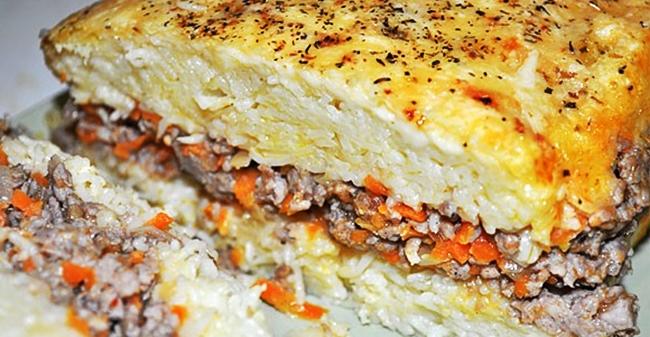 Лапшевник с мясным фаршем рецепт приготовления