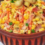 Салат с грибами и кукурузой рецепт приготовления