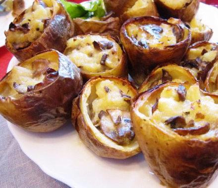 Фаршированный картофель с грибами в духовке рецепт приготовления