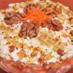 Салат Любимый с ветчиной и шампиньонами рецепт приготовления