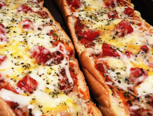 Пицца в хлебе с помидорами в духовке рецепт приготовления