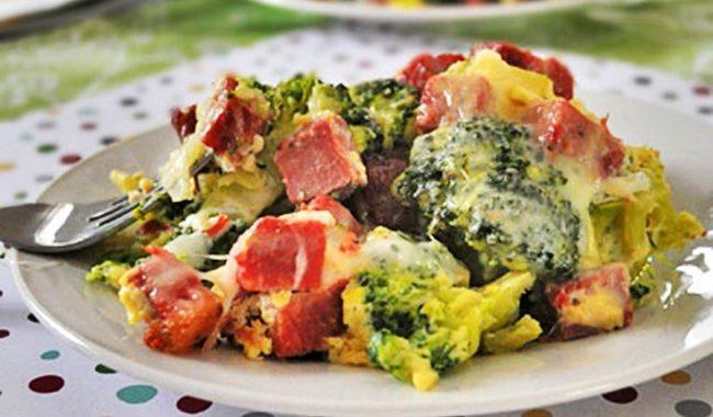 Брокколи с ветчиной под сыром рецепт приготовления