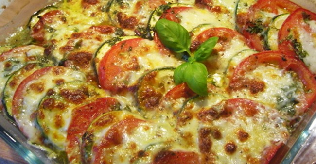 Запеканка с цуккини и томатами рецепт приготовления