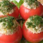 Помидоры с начинкой с сыром и ветчиной рецепт приготовления
