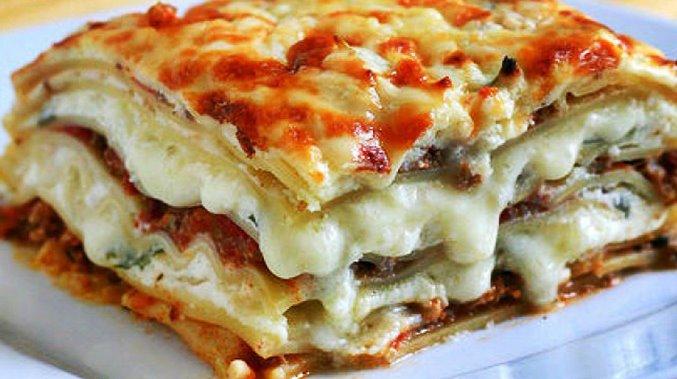 Лазанья с сыром и шампиньонами на сковороде рецепт приготовления