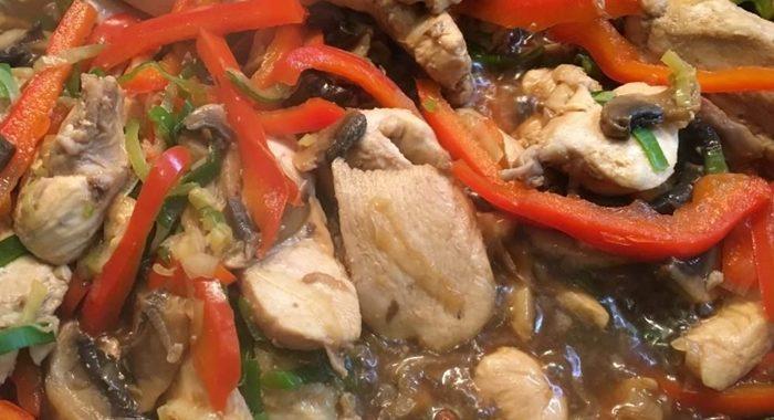 Курица с баклажанами на сковороде рецепт приготовления