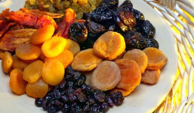 Натуральные сушеные фрукты