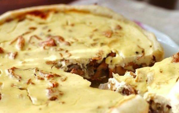 Пирог с лисичками рецепт приготовления