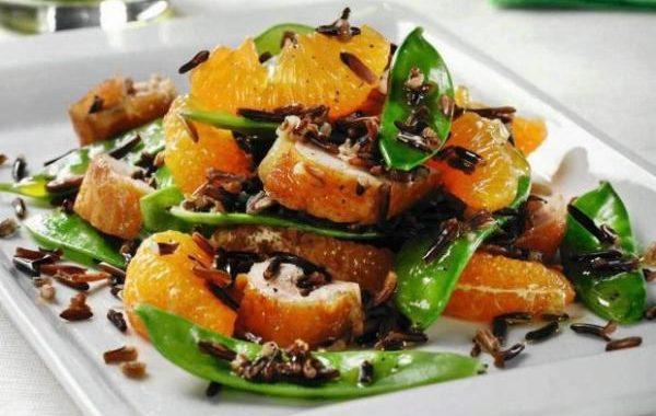 Салат с курицей и диким рисом рецепт приготовления