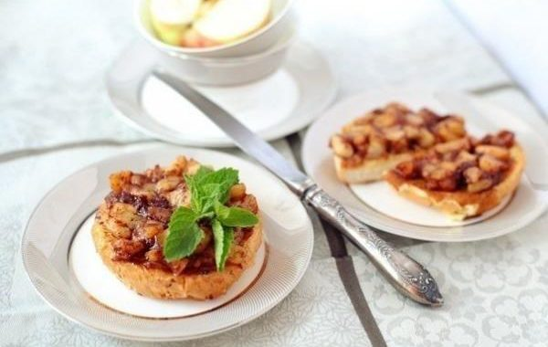 Тосты с медом и яблоками рецепт приготовления