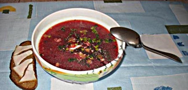 Украинский борщ со свеклой и капустой рецепт приготовления
