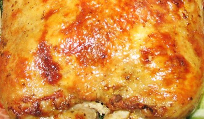 Фаршированная курица грибами рецепт приготовления