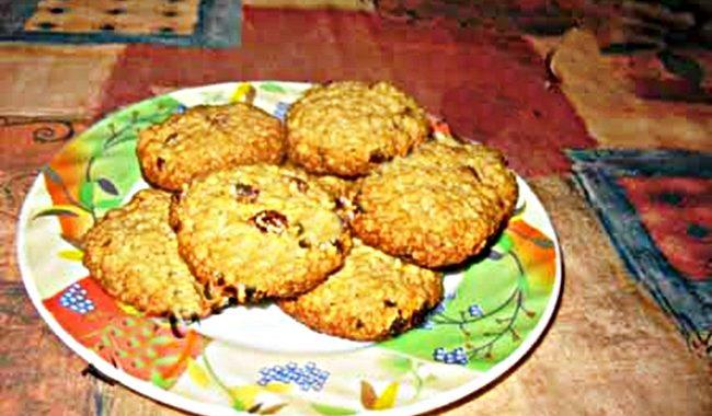 Овсяное печенье с изюмом рецепт приготовления