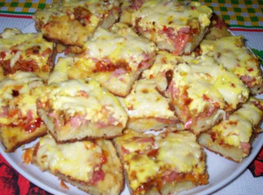 Пицца с лососем, грибами и сыром рецепт приготовления