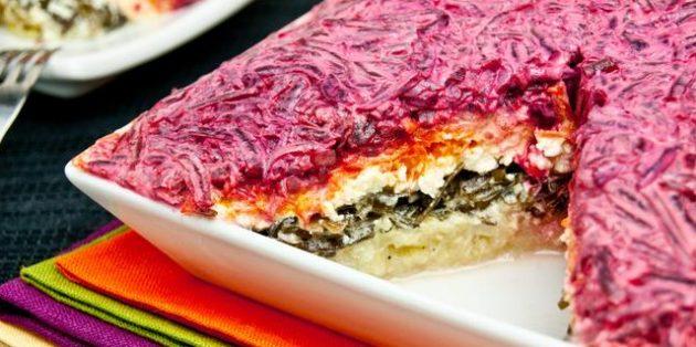 Селедка под шубой – калорийность на 100 грамм