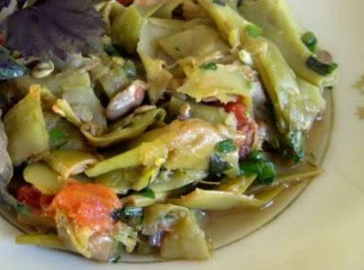 Салат из стручковой фасоли с мидиями и красным вином рецепт