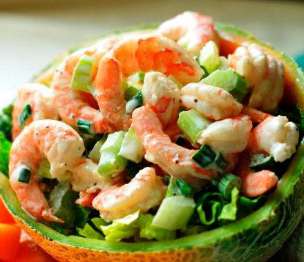 Салат с креветками, яйцом и майонезом рецепт приготовления