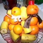 Как сделать снеговики из мандаринов