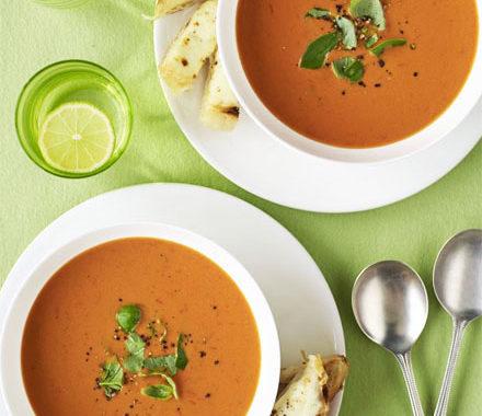 Томатный суп из помидоров с сыром и чесноком рецепт приготовления