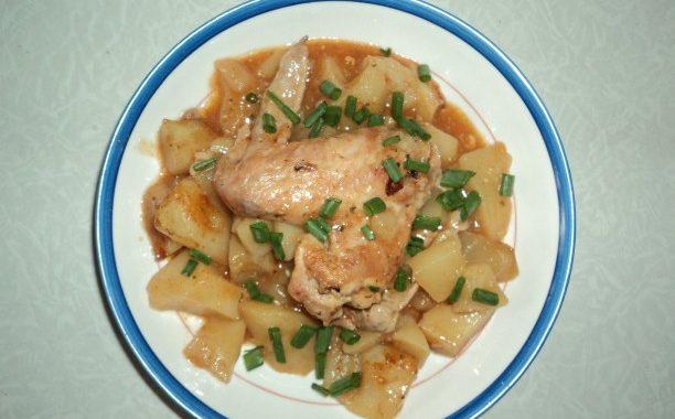Тушеный картофель с курицей рецепт приготовления