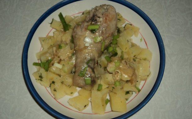 Тушеная курица в сметане на сковороде рецепт приготовления