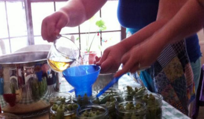 Маринованная окра рецепт приготовления