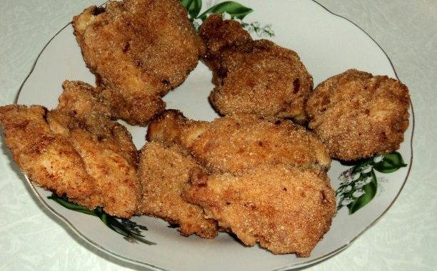 Как приготовить жареную курицу в двойной панировке
