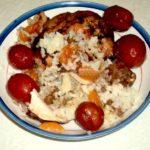 Курица фаршированная рисом и сухофруктами рецепт