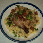 Курица запеченная с чесночным соусом рецепт