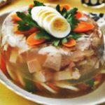 Заливное из курицы с желатином рецепт приготовления